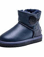cheap -Girls' Shoes Fur Winter Fall Comfort Snow Boots Boots Booties/Ankle Boots for Casual Brown Light Yellow Dark Blue