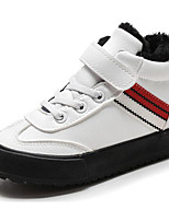 cheap -Girls' Shoes Synthetic Microfiber PU Spring Fall Comfort Sneakers for Casual Red Black White