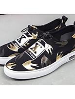 Недорогие -Для мужчин обувь Ткань Весна Осень Удобная обувь Кеды для Повседневные Золотой Белый Черный Серебряный