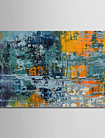 cheap -Hand-Painted Abstract Horizontal, Comtemporary Simple Modern Canvas Oil Painting Home Decoration One Panel