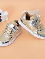 cheap -Girls' Boys' Shoes PU Tulle Spring Fall Comfort Sneakers for Casual Gold Silver Pink