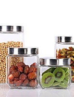 Недорогие -Стекло Творческая кухня Гаджет Прост в применении Кувшины для печенья 4шт Кухонная организация