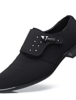 cheap -Men's Shoes PU Spring Fall Formal Shoes Comfort Loafers & Slip-Ons for Wedding Office & Career Black