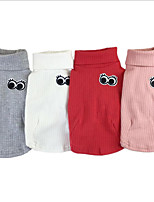 cheap -Dog Shirt / T-Shirt Dog Clothes Stylish Casual/Daily Solid Pink Red Gray White Costume For Pets