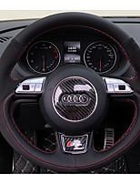 abordables -cubiertas del volante automotriz (cuero) para audi todos los años a1 q5 q7 q3 a3 a4l a6l