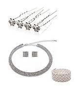cheap -Women's Hair Sticks Bridal Jewelry Sets Rhinestone Fashion European Wedding Party Imitation Pearl Imitation Diamond Alloy Butterfly Body