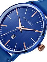 Недорогие -Муж. Повседневные часы Наручные часы Японский Кварцевый Календарь Повседневные часы Натуральная кожа Группа На каждый день Cool минималист