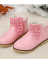 cheap -Girls' Shoes PU Spring Fall Comfort Fashion Boots Boots Booties/Ankle Boots for Casual Pink Red Black