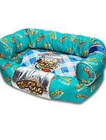 cheap -Dog Bed Pet Mats & Pads Cartoon Soft Green Fuchsia Dark Blue For Pets