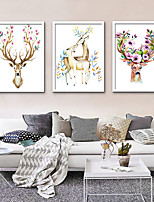cheap -Animals Illustration Wall Art,PVC Material With Frame For Home Decoration Frame Art Living Room Indoor