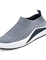 Недорогие -Муж. обувь Ткань Весна Осень Удобная обувь Мокасины и Свитер для Атлетический Повседневные Черный Серый