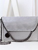 cheap -Women Bags PU Shoulder Bag Buttons Zipper for Casual All Season Almond Gray Red Silver Black