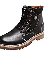 cheap -Men's Shoes Synthetic Microfiber PU Spring Fall Comfort Boots Mid-Calf Boots for Casual Brown Gray Black