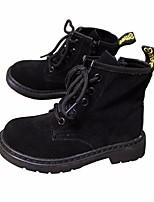 Недорогие -Мальчики Девочки обувь Натуральная кожа Нубук Зима Осень Удобная обувь Армейские ботинки Ботинки Ботинки для Повседневные Черный Пурпурный