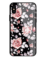 economico -Custodia Per Apple iPhone X iPhone 8 Fantasia/disegno Fiore decorativo Resistente per