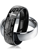 cheap -Men's Women's Band Rings Rock Hypoallergenic Stainless Steel Cross Letter Jewelry Going out Club