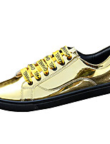 cheap -Men's Shoes Patent Leather Spring Fall Comfort Sneakers for Casual Gold Black Silver