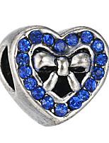 Недорогие -Ювелирные изделия DIY 10 штук Бусины Стразы Сплав Белый Лиловый Перламутрово-розовый Светло-синий Тёмно-синий Сердце Шарик 0.45 cm DIY