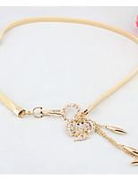 cheap -Women's Gold Waist Belt,Gold Casual