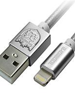 abordables -USB2.0 Eclairage Adaptateur de câble USB Portable Charge rapide Pour iPhone 100 cm Nylon
