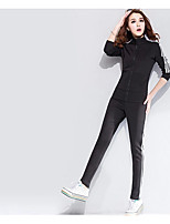 cheap -Women's Sports Casual Fall Hoodie Pant Suits,Print Turtleneck Long Sleeve Polyester
