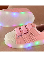 cheap -Girls' Shoes PU Spring Fall Comfort Sneakers for Casual Pink Black White