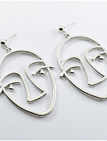 cheap -Women's Drop Earrings Oversized Hip-Hop Alloy Face Jewelry Party Daily Costume Jewelry