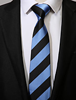 cheap -Men's Polyester Necktie, Casual Striped All Seasons Blue