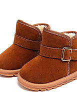 cheap -Girls' Shoes Nubuck leather Winter Fall Comfort Snow Boots Boots Booties/Ankle Boots for Casual Brown Peach Black