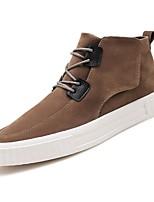 Недорогие -Для мужчин обувь Полиуретан Весна Осень Удобная обувь Кеды для Черный Серый Коричневый