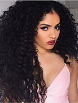 cheap -Human Hair Lace Front Wig Wig Peruvian Hair Loose Wave With Baby Hair 120% Density Natural Hairline Short / Medium Length / Long Human Hair Lace Wig