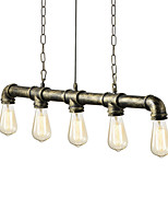 cheap -Vintage Industrial Water Pipe Pendant Light Cafe Bar Decoration lighting With 5 Lights Painted Finish