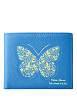 cheap -Women Bags Cowhide Wallet Buttons Pattern / Print for Casual Office & Career All Season Blue
