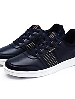 cheap -Men's Shoes Synthetic Microfiber PU Spring Fall Comfort Sneakers for Casual Dark Blue Black White