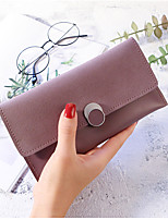 cheap -Women's Bags PU Wallet Buttons for Event/Party Shopping All Seasons Gray Purple Dark Green Coffee Wine