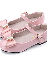 cheap -Girls' Shoes Patent Leather Spring Fall Comfort Flower Girl Shoes Flats for Casual Pink Blue Black