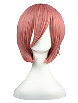 cheap -14inch Short Dark Pink HitmanReborn Giotto Synthetic Anime Cosplay Wig CS-001G