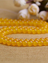 cheap -DIY Jewelry 38 pcs Beads Crystal Yellow Round Bead 1 DIY Bracelet Necklace