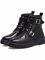 cheap -Women's Shoes PU Winter Fall Comfort Combat Boots Boots Chunky Heel Booties/Ankle Boots for Casual Black
