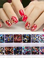economico -1set Accessori Brillante Con lustrini Glitter per unghie Menta Modelli fantasia
