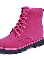 Недорогие -Для женщин Обувь Мех Зима Осень Удобная обувь Зимние сапоги Ботинки На плоской подошве Сапоги до середины икры для Повседневные Черный
