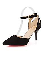 Недорогие -Для женщин Обувь Полиуретан Весна Осень Удобная обувь Обувь на каблуках На шпильке для Черный Вино