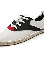 cheap -Men's Shoes PU Spring Fall Comfort Sneakers for Casual Black White