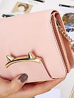 cheap -Women Bags PU Wallet Tassel for Casual All Season Blushing Pink