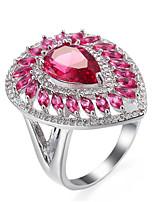 preiswerte -Damen Bandringe Knöchel-Ring Strass Synthetischer Diamant Formell Einfach Klassisch Elegant Kupfer Tropfen Schmuck Hochzeit Party