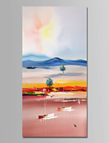 cheap -Hand-Painted Landscape Vertical,Comtemporary Simple Modern Canvas Oil Painting Home Decoration One Panel