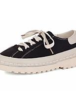economico -Da donna Scarpe PU (Poliuretano) Primavera Autunno Comoda Sneakers Piatto Punta tonda per Casual Nero Verde militare