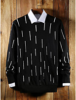 cheap -Men's Daily Casual Striped Round Neck Sweater Pullover, Long Sleeves Spring Fall Rayon