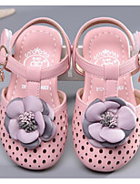 cheap -Girls' Shoes Leatherette Spring Summer Comfort Sandals for Casual Pink Beige