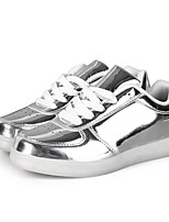 cheap -Unisex PU / Synthetics Spring & Summer / Fall & Winter Casual Sneakers Walking Shoes Breathable Gold / White / Black
